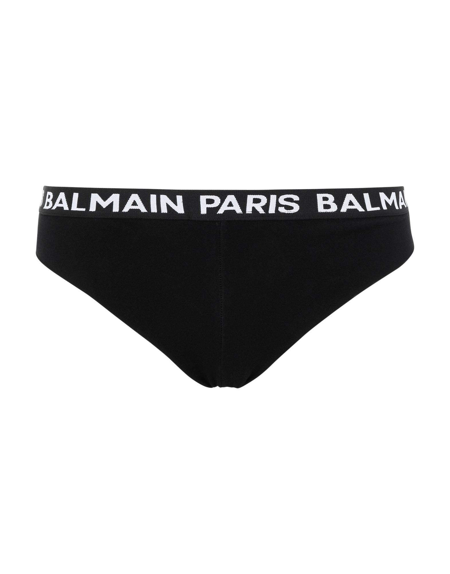 BALMAIN Briefs. jersey, logo, solid color, elasticized waist, semi-lined, stretch. 80% Cotton, 20% Elastane