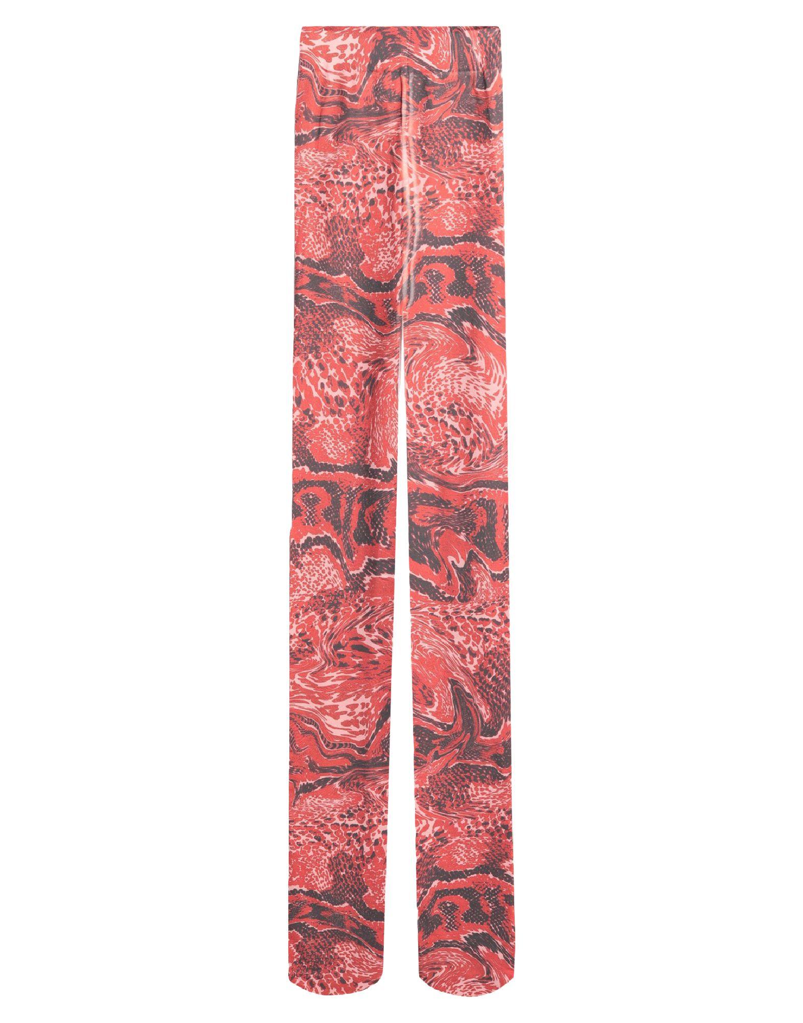 GANNI Hosiery. jersey, no appliqués, multicolor pattern, stretch. 93% Recycled polyamide, 7% Elastane