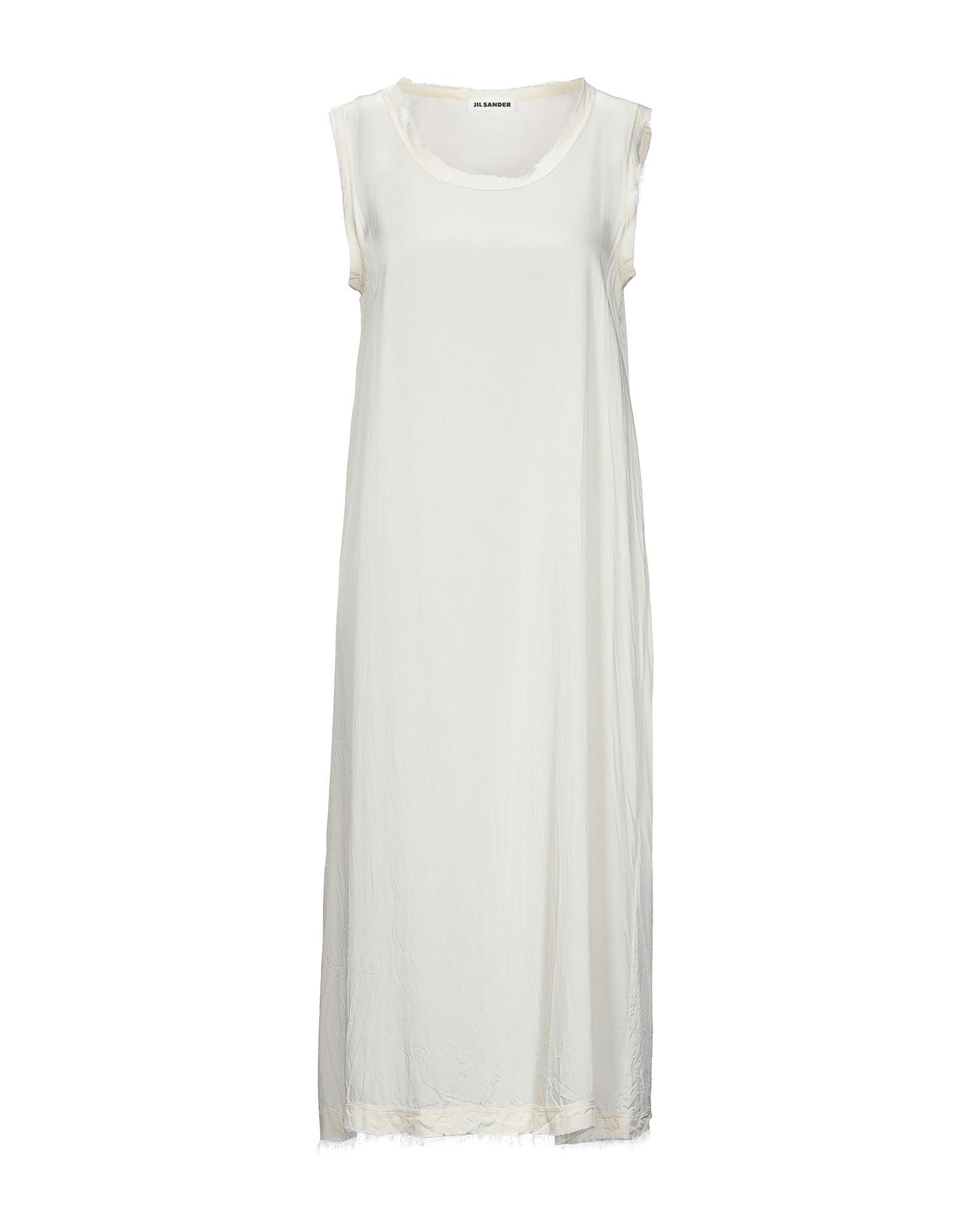 JIL SANDER Slips. satin, no appliqués, basic solid color, round collar, sleeveless, stretch. 95% Viscose, 5% Elastane