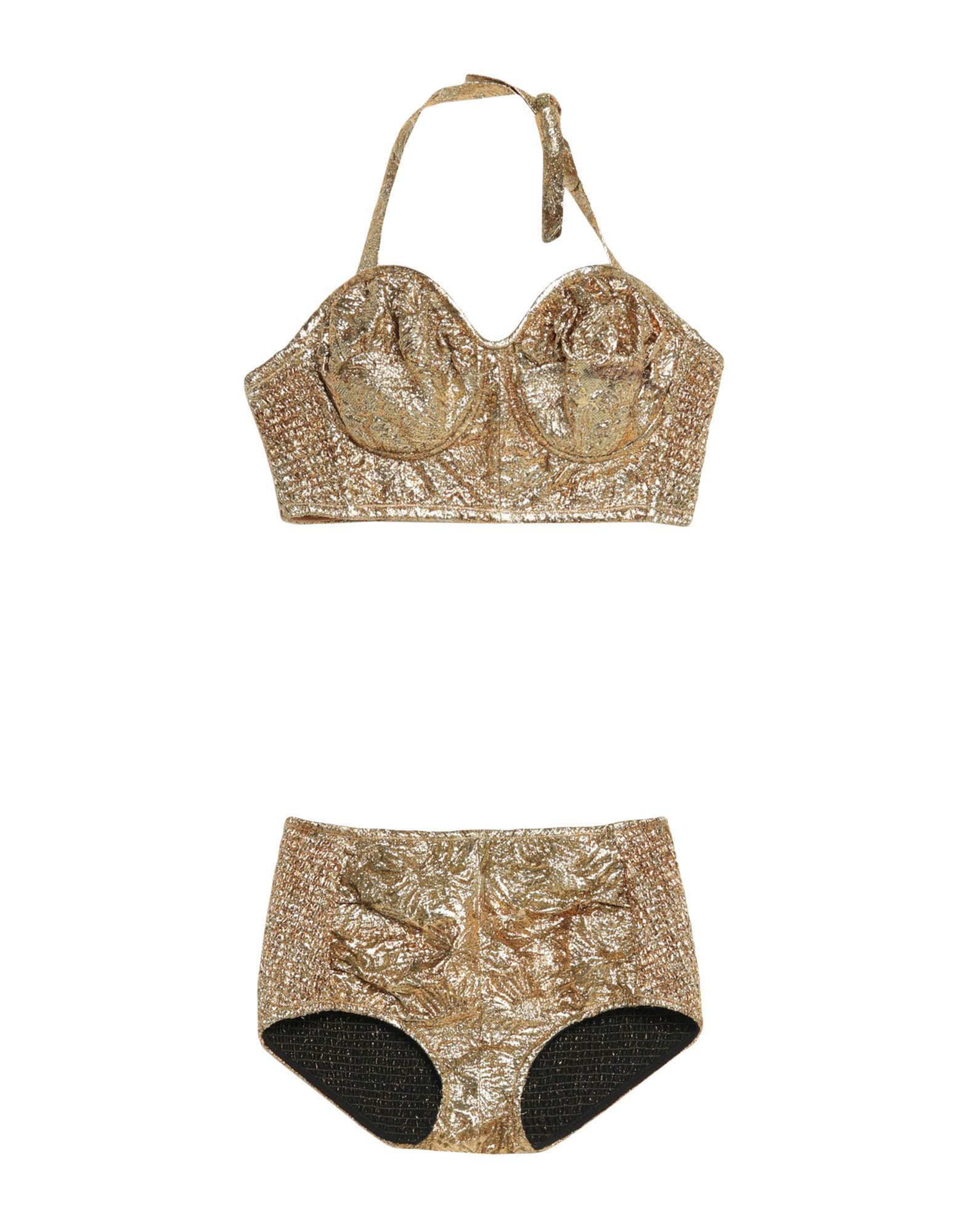 MAISON MARGIELA Underwear sets. plain weave, lamé, no appliqués, solid color, no pockets, no fastening, unlined. 100% Polyester