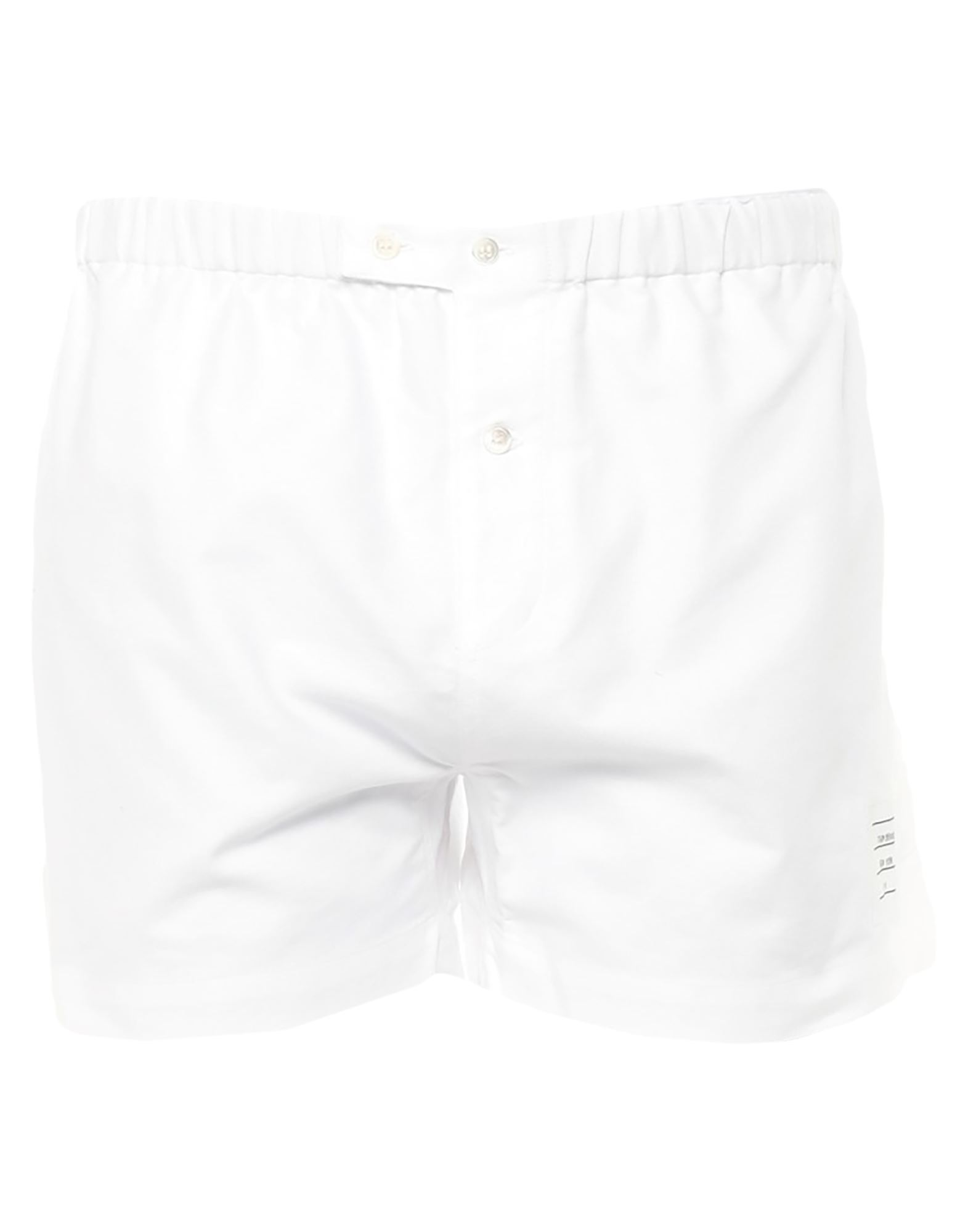 THOM BROWNE Boxers. plain weave, logo, basic solid color, button closing. 100% Cotton
