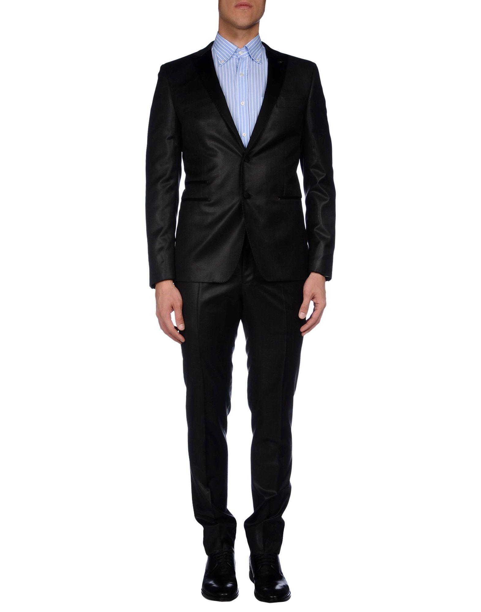 メンズ PAOLONI スーツ スチールグレー