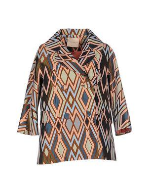 ERIKA CAVALLINI Damen Lange Jacke Farbe Braun Größe 4 Sale Angebote Terpe