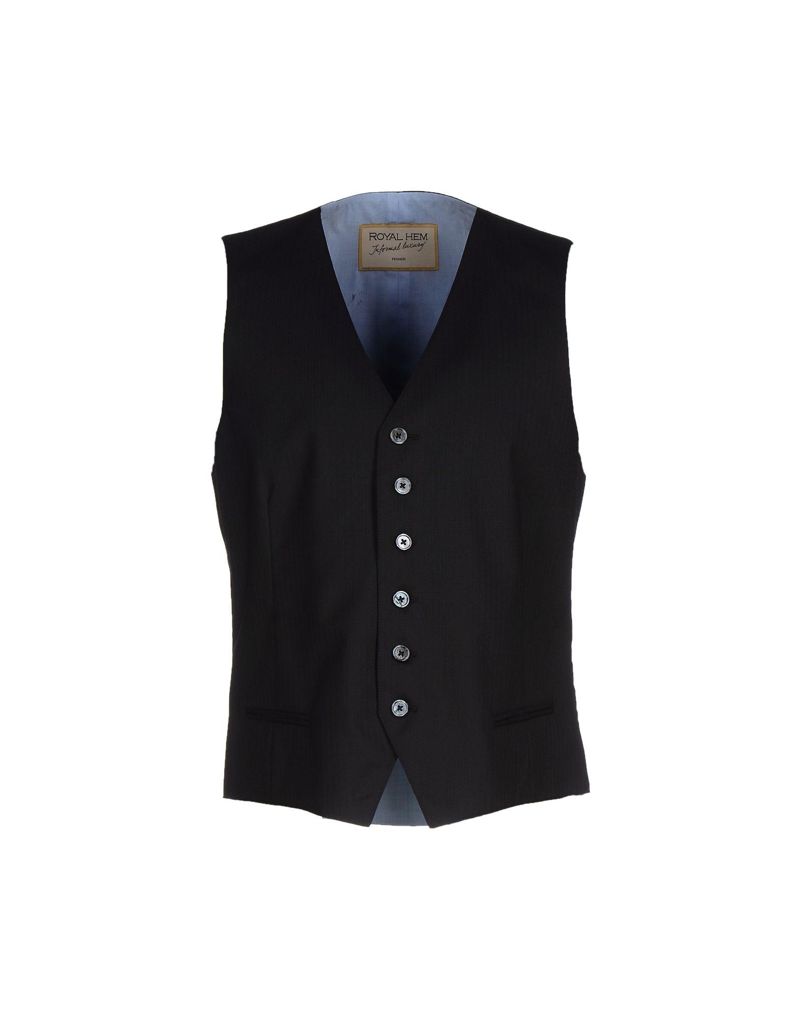 ROYAL HEM Suit Vest in Black