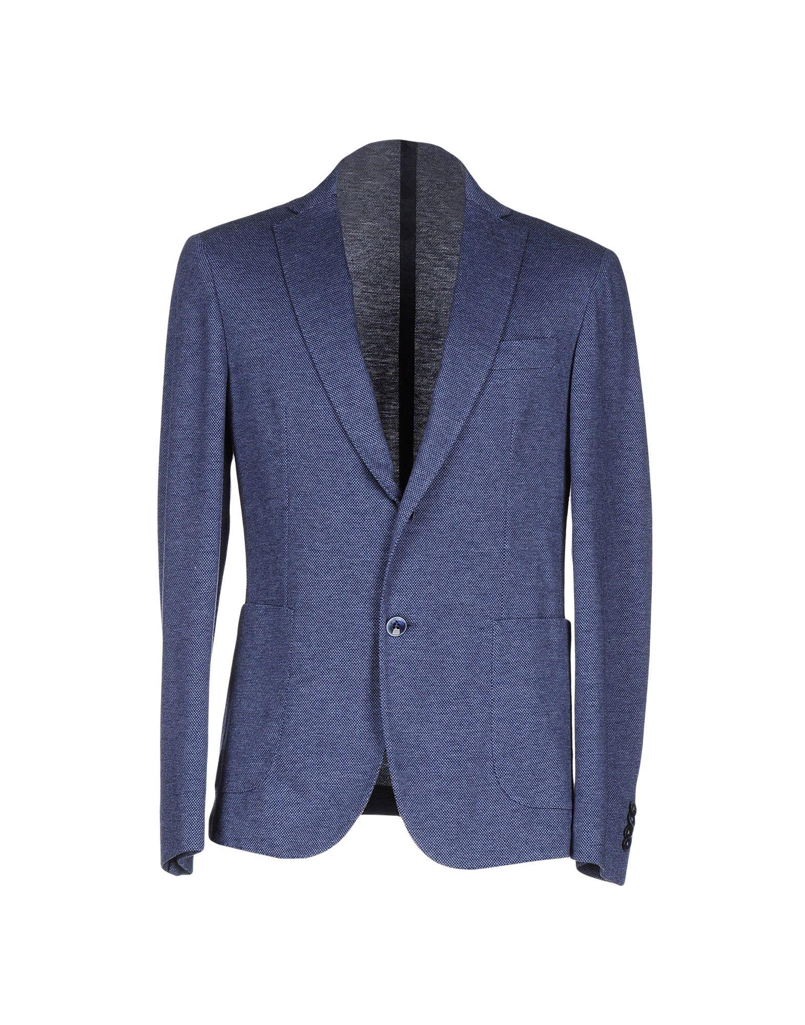 《送料無料》BRANCACCIO C. メンズ テーラードジャケット パステルブルー 48 コットン 100%