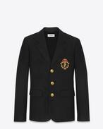 SAINT LAURENT Blazer Jacket U Club Jacket in Black Wool f