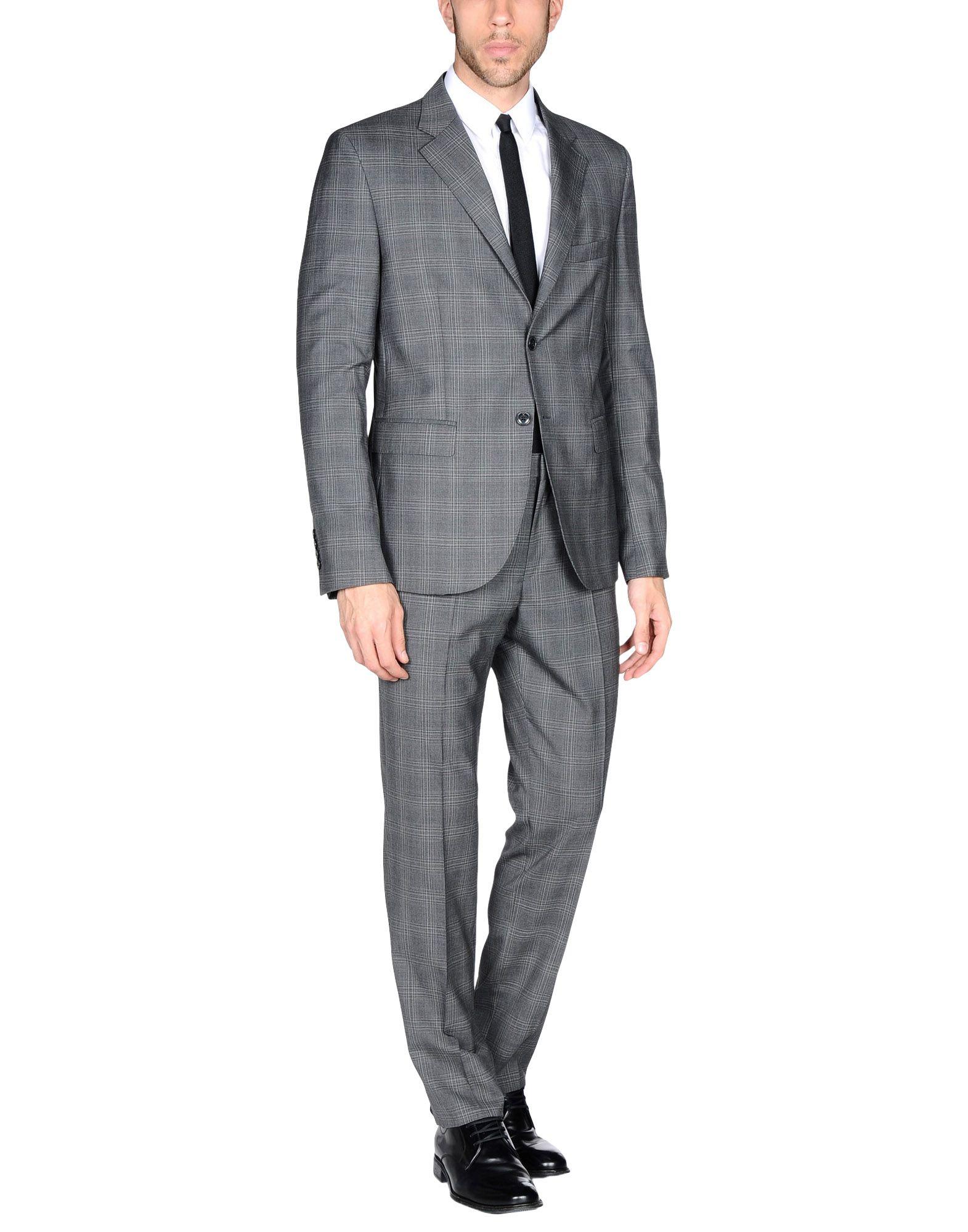 《送料無料》RICHMOND X メンズ スーツ グレー 54 バージンウール 100%