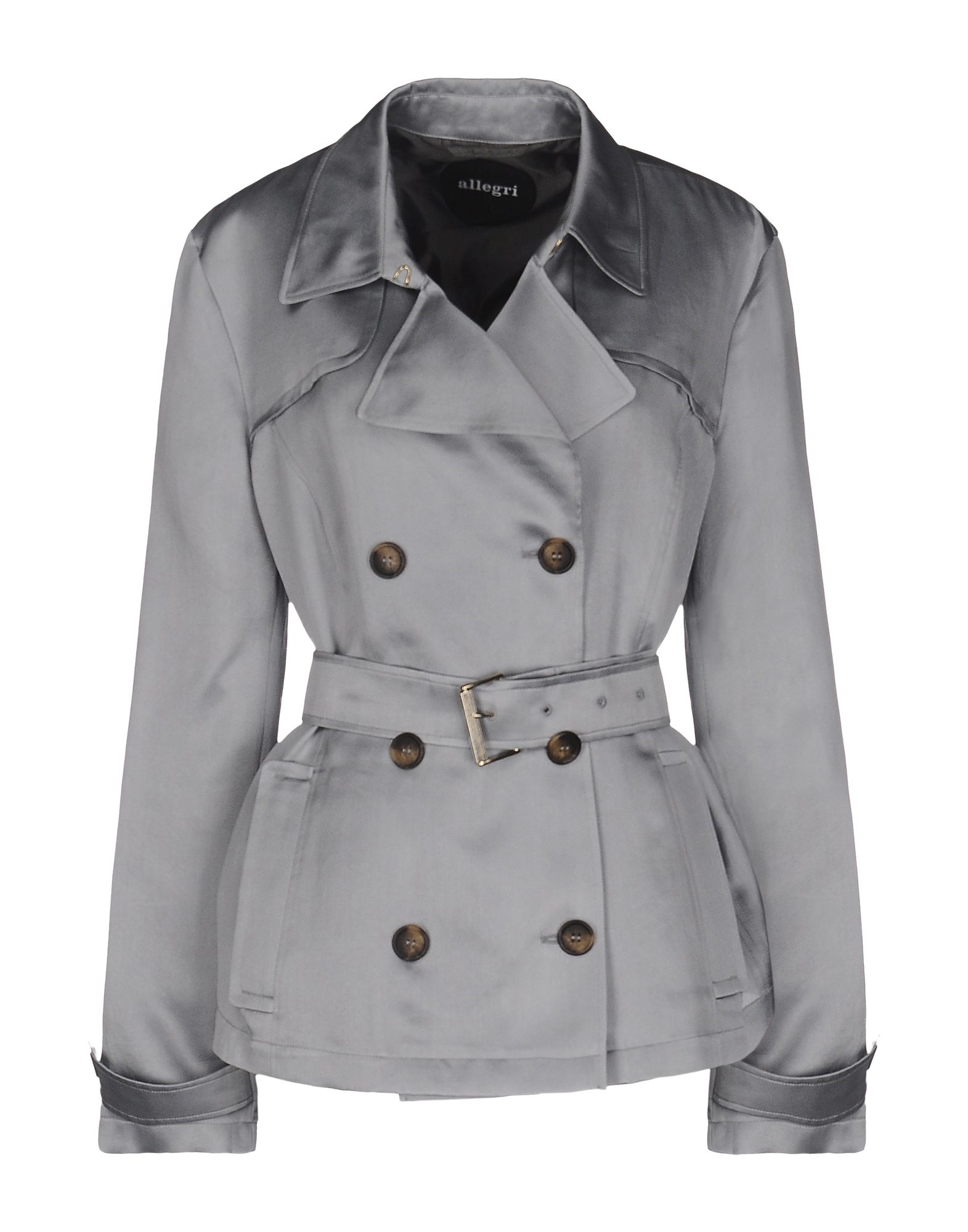 ALLEGRI Belted Coats in Light Grey