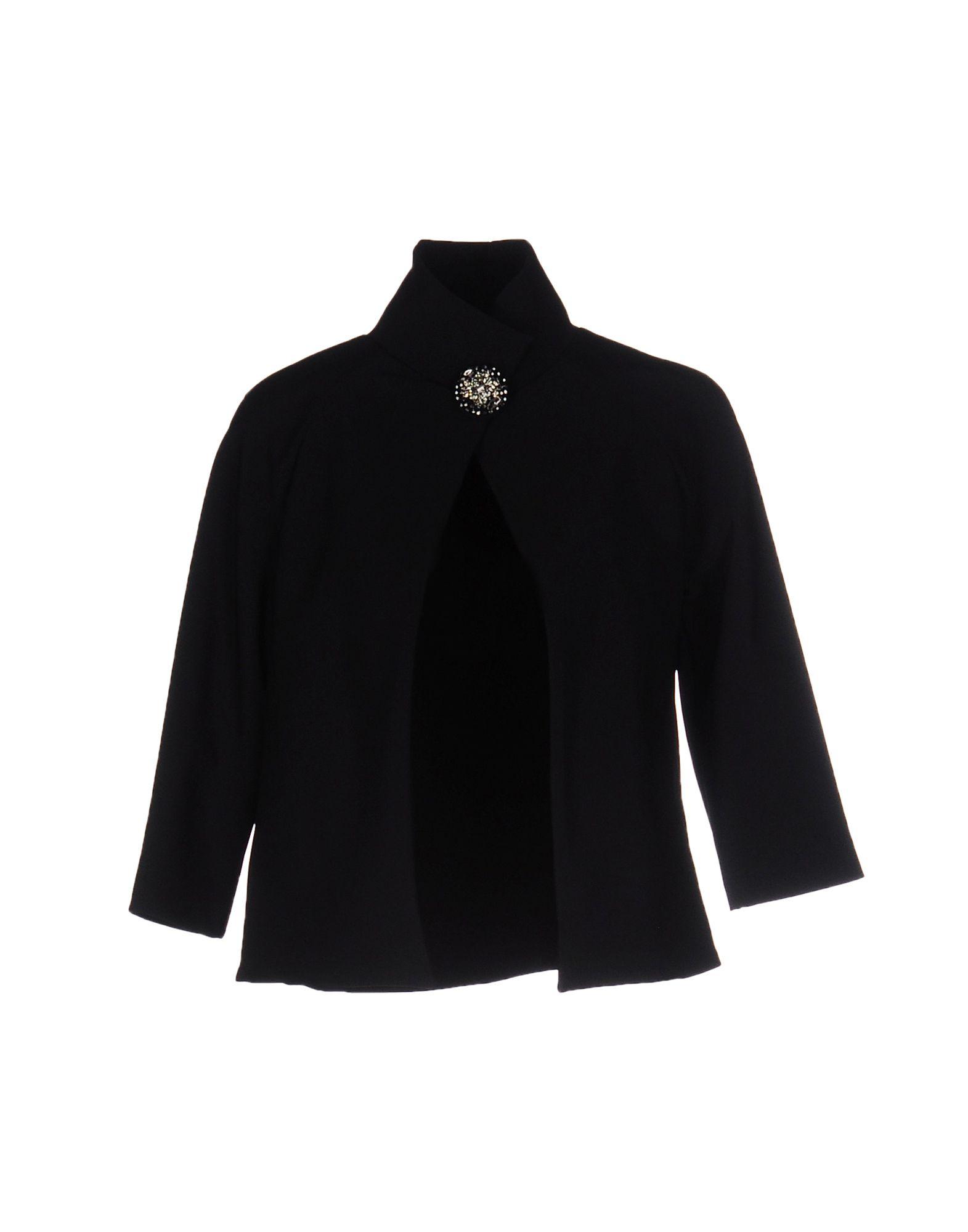 《セール開催中》CHRISTIES? PORTER レディース テーラードジャケット ブラック 46 ナイロン 72% / ポリウレタン 28%