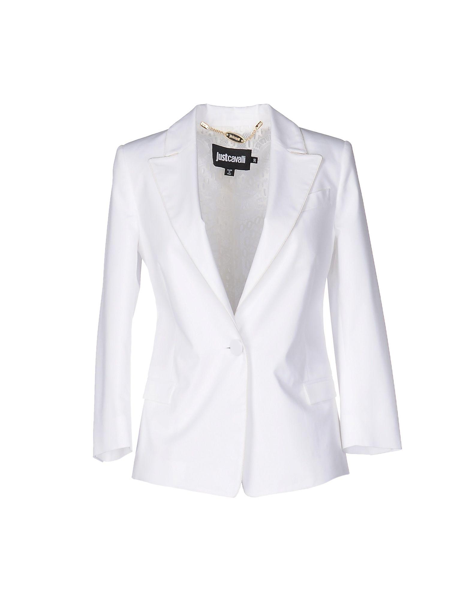 JUST CAVALLI Damen Jackett Farbe Weiß Größe 3