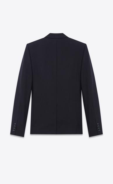 SAINT LAURENT Blazer Jacket U Single Breasted Jacket in Navy Blue Wool b_V4