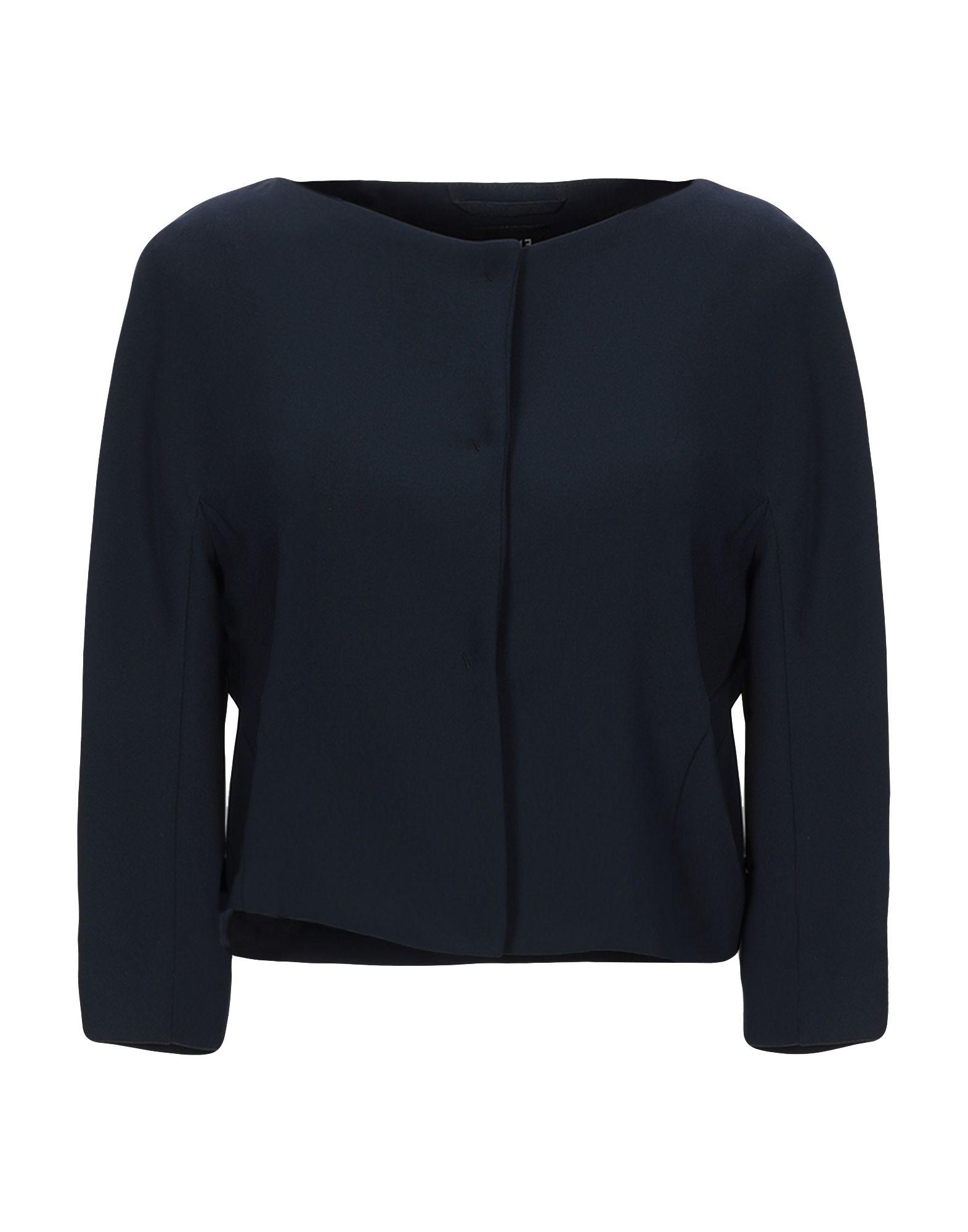 《セール開催中》EMME by MARELLA レディース テーラードジャケット ダークブルー 40 ポリエステル 100%