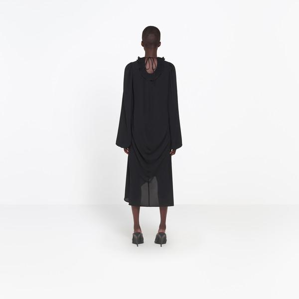BALENCIAGA Dress Woman Swing Collar Frill Dress h