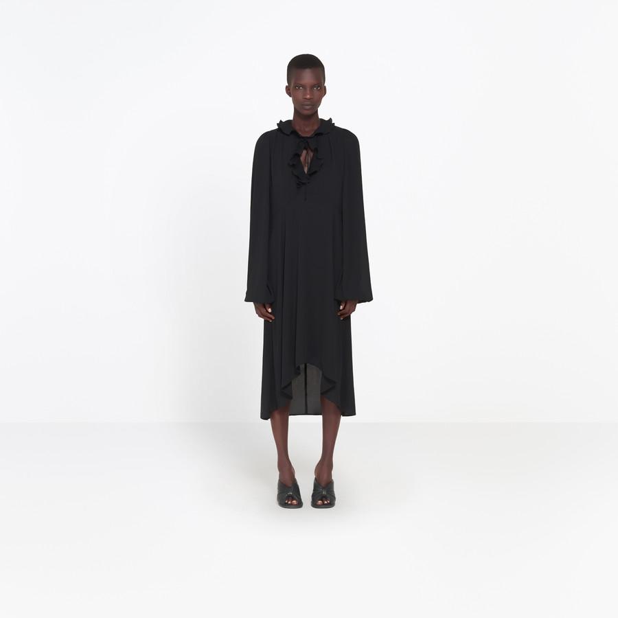 BALENCIAGA Swing Collar Frill Dress Dress Woman f