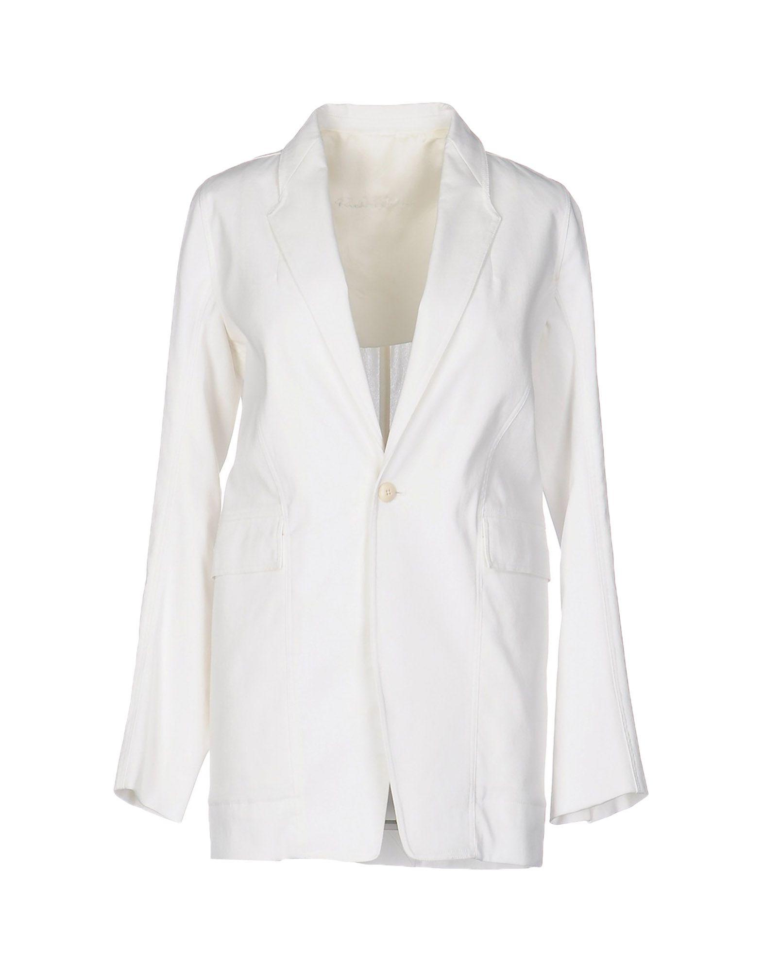 RICK OWENS Damen Jackett Farbe Weiß Größe 3 - broschei