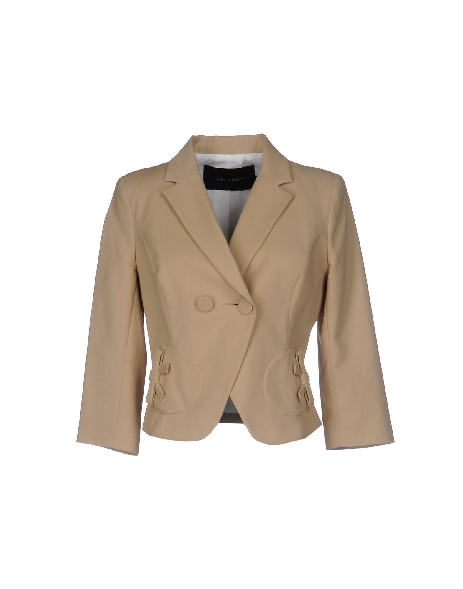 TARA JARMON Damen Jackett Farbe Beige Größe 6 - broschei