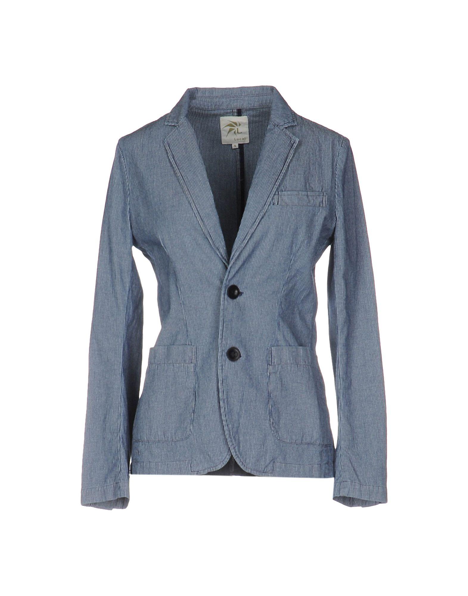 LOCAL APPAREL Damen Jackett Farbe Dunkelblau Größe 3 - broschei