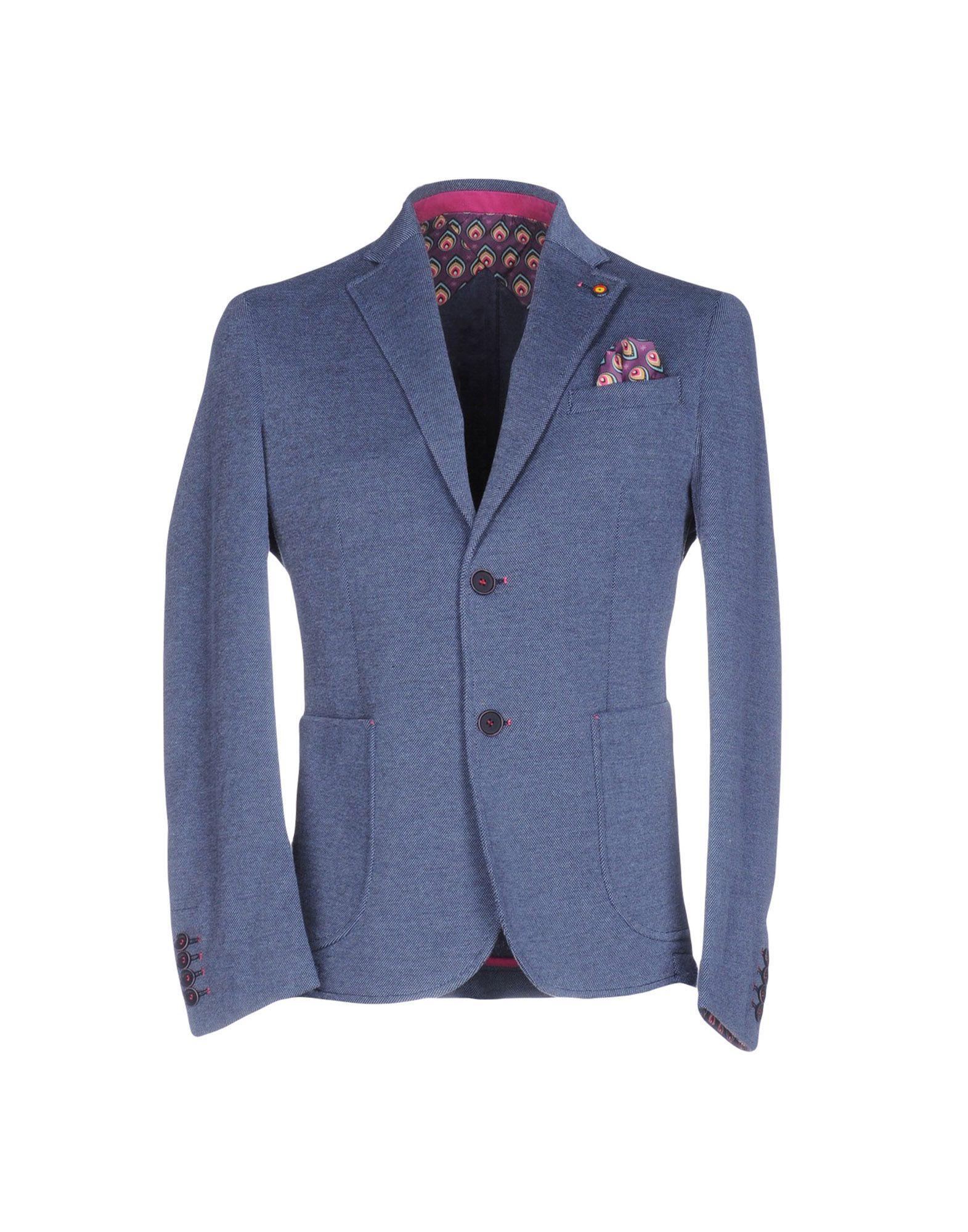 ROBERTO P Luxury Herren Jackett Farbe Taubenblau Größe 4 - broschei