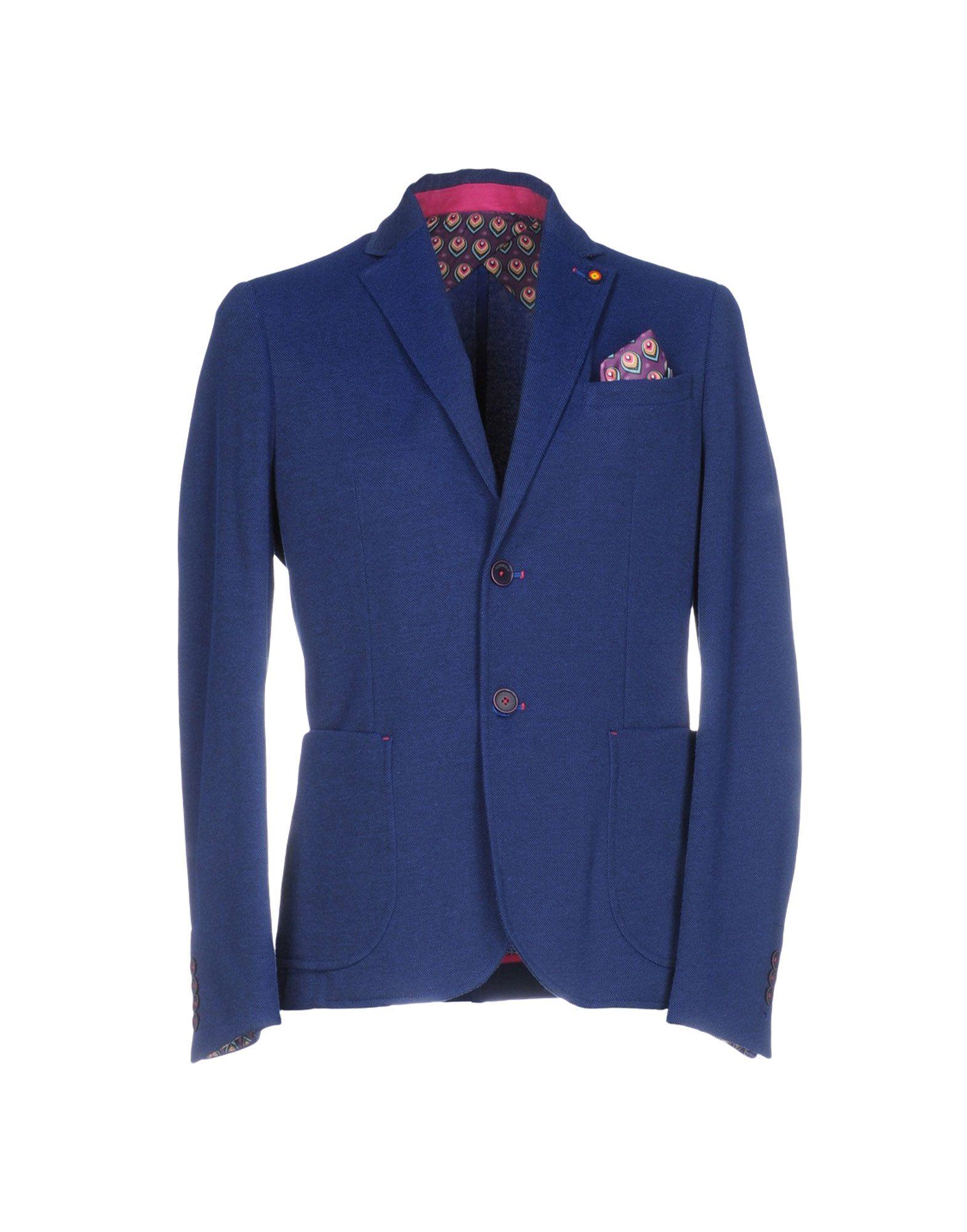ROBERTO P Luxury Herren Jackett Farbe Blau Größe 3