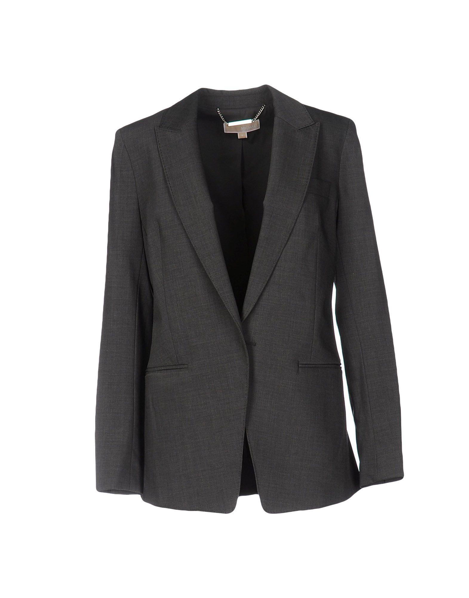 MICHAEL KORS Damen Jackett Farbe Grau Größe 4