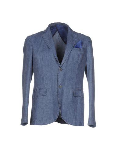 VICTOR COOL メンズ テーラードジャケット ブルー 48 レーヨン 70% / 麻 30%