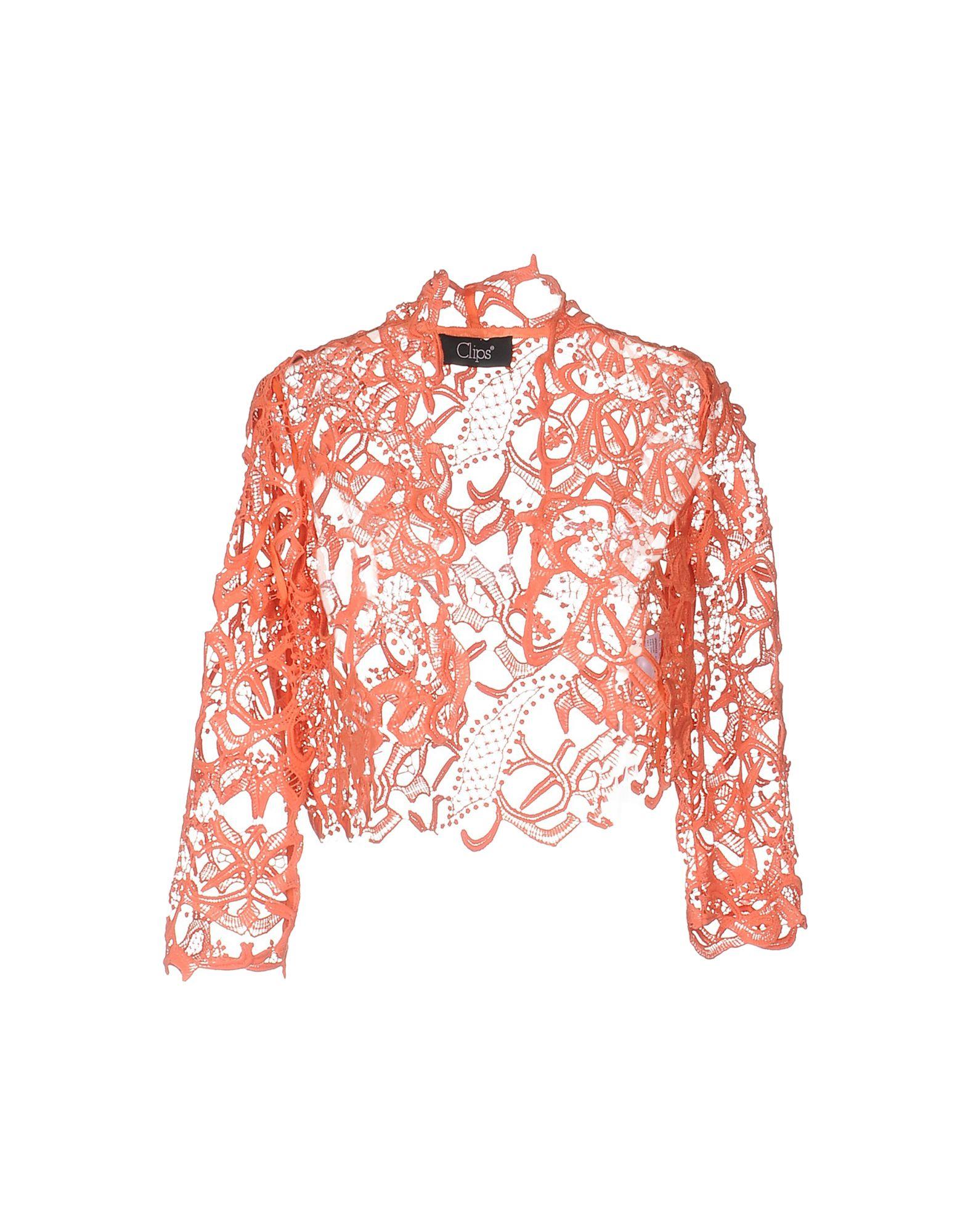 CLIPS Damen Jackett Farbe Orange Größe 8 - broschei