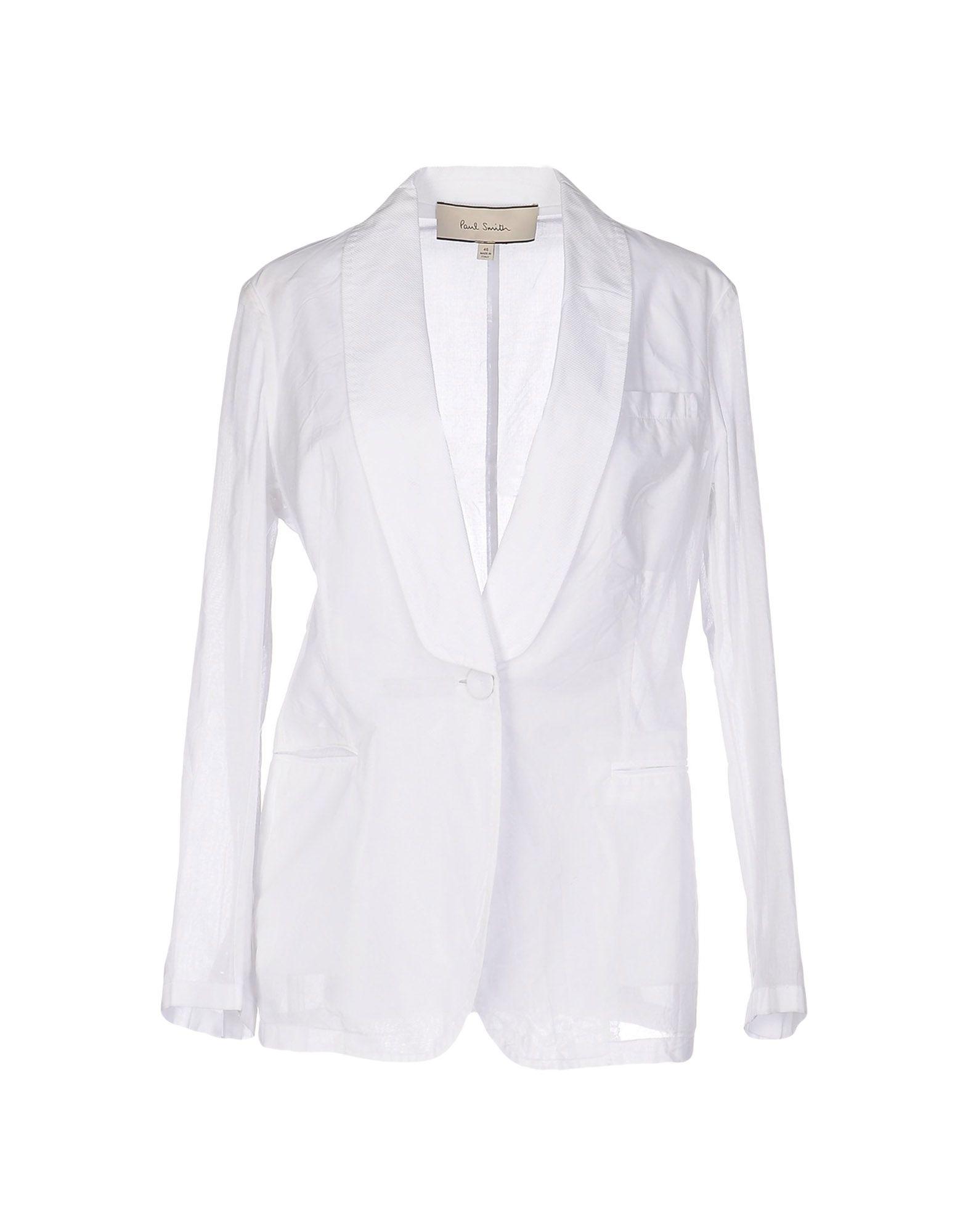 PAUL SMITH Damen Jackett Farbe Weiß Größe 6 - broschei