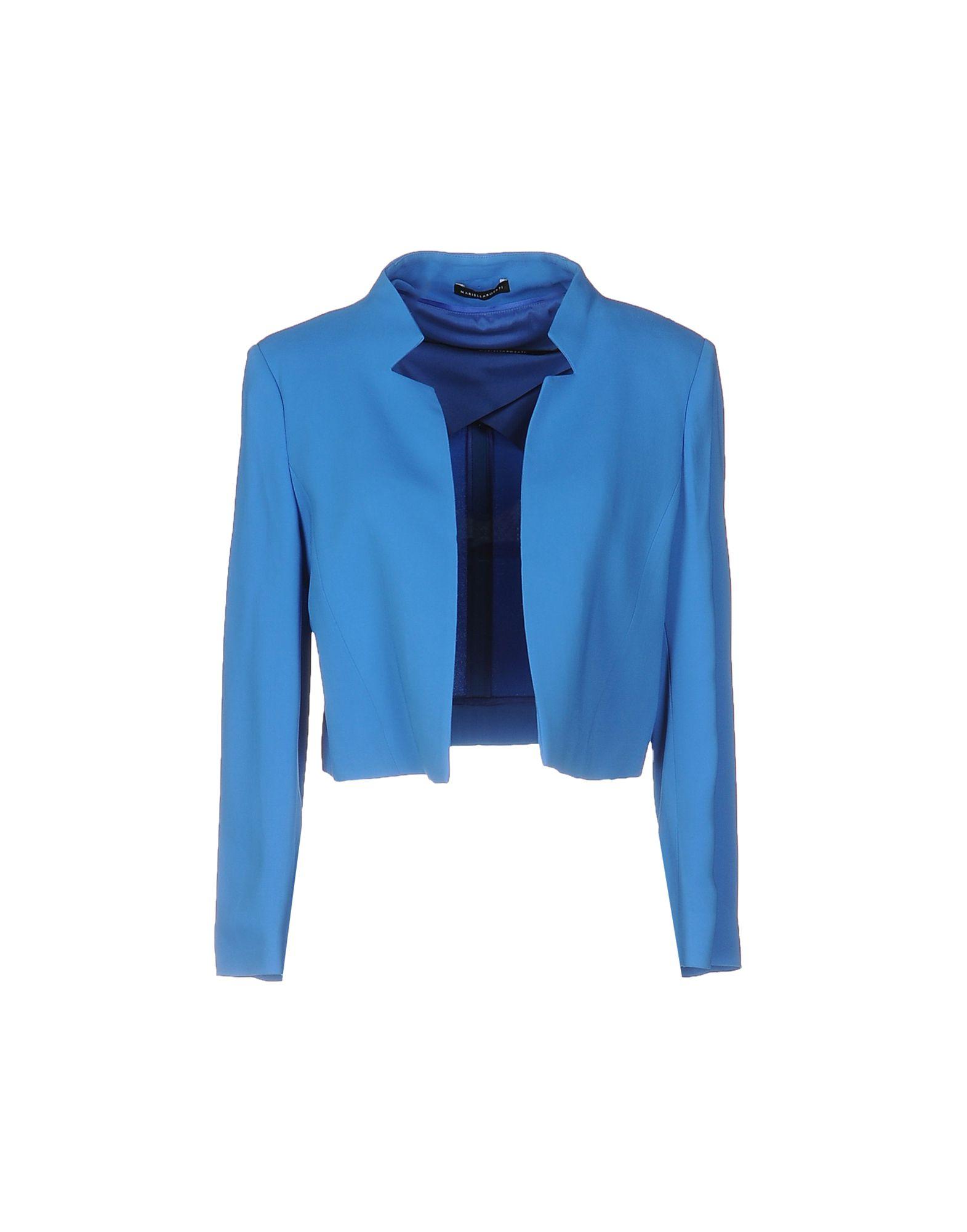 MARIELLA ROSATI Damen Jackett Farbe Blaugrau Größe 5