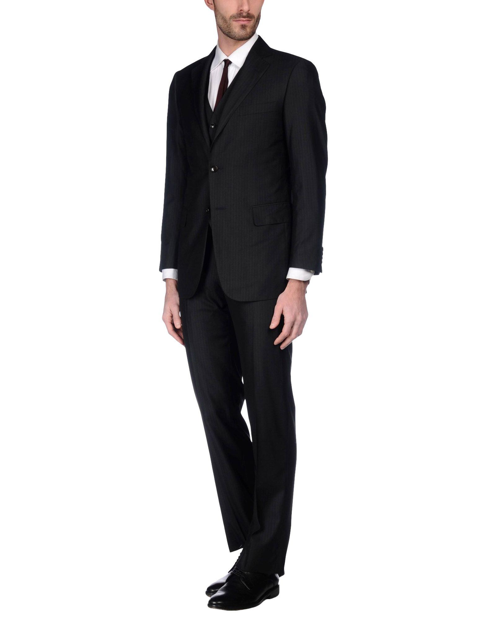 PAL ZILERI Herren Anzug Farbe Schwarz Größe 2