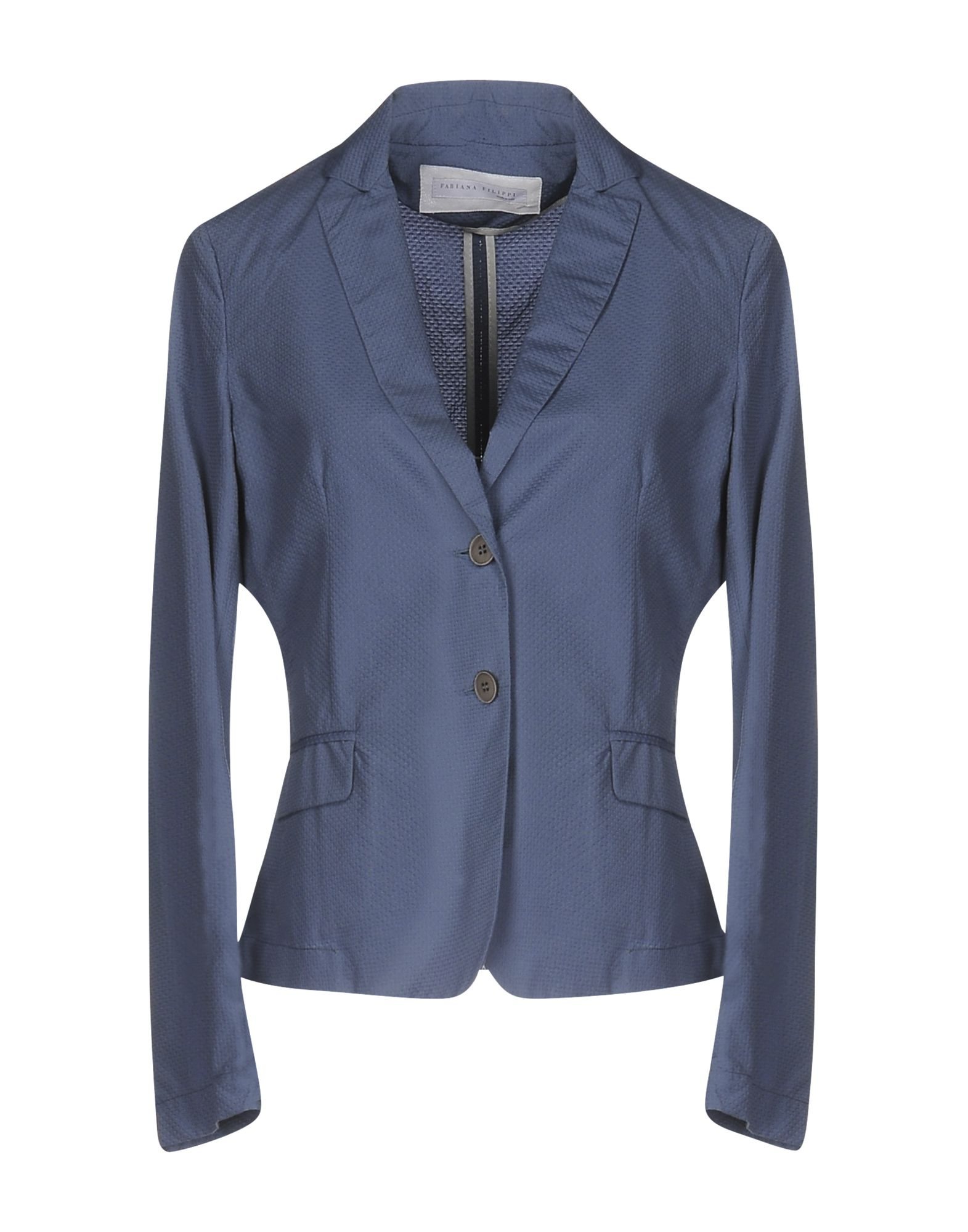FABIANA FILIPPI Damen Jackett Farbe Blaugrau Größe 7 jetztbilligerkaufen