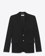SAINT LAURENT Blazer Jacket U Classic Black Single-Breasted Blazer f