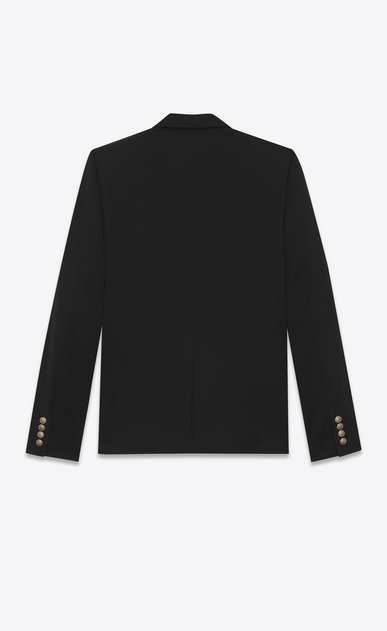 SAINT LAURENT Blazer Jacket Man classic single-breasted blazer in black virgin wool gabardine b_V4