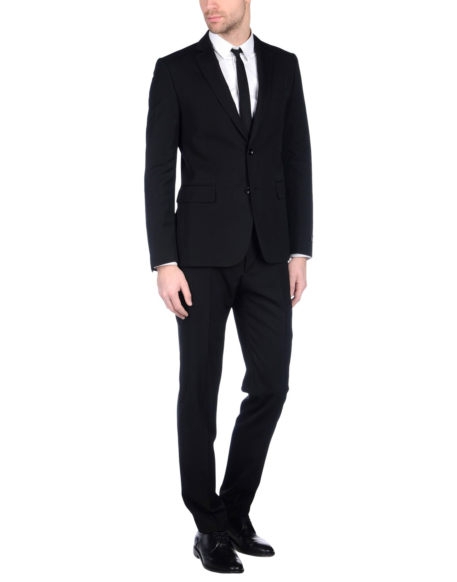 《送料無料》LAB. PAL ZILERI メンズ スーツ ブラック 48 スーパー130 ウール 100%
