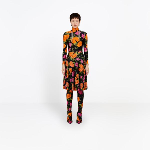 BALENCIAGA Dress Woman Embroidered Ice Skater Dress g