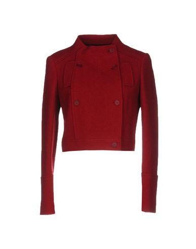 Фото - Женский пиджак  кирпично-красного цвета
