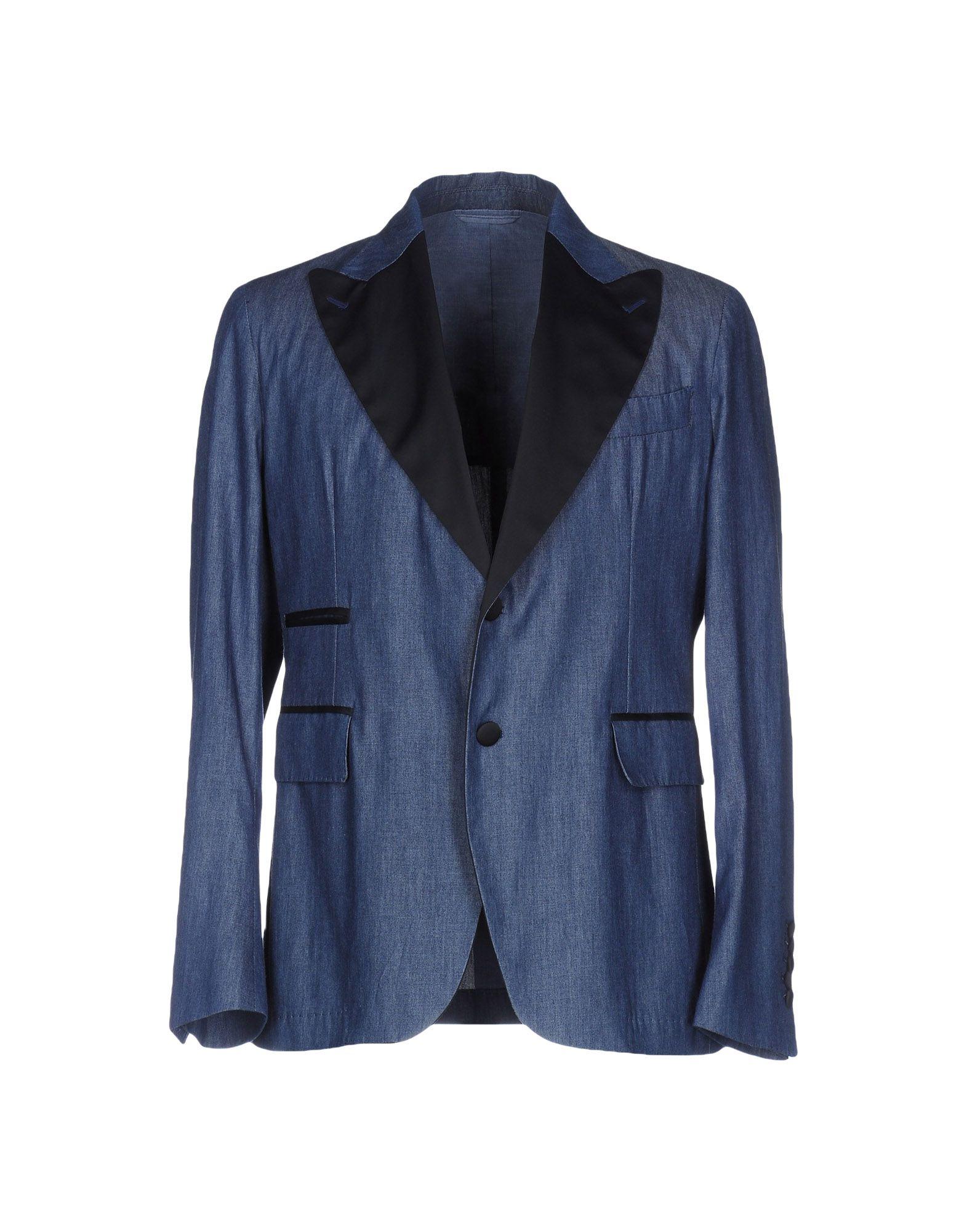 《送料無料》JOHN SHEEP メンズ テーラードジャケット ブルー 52 コットン 100%