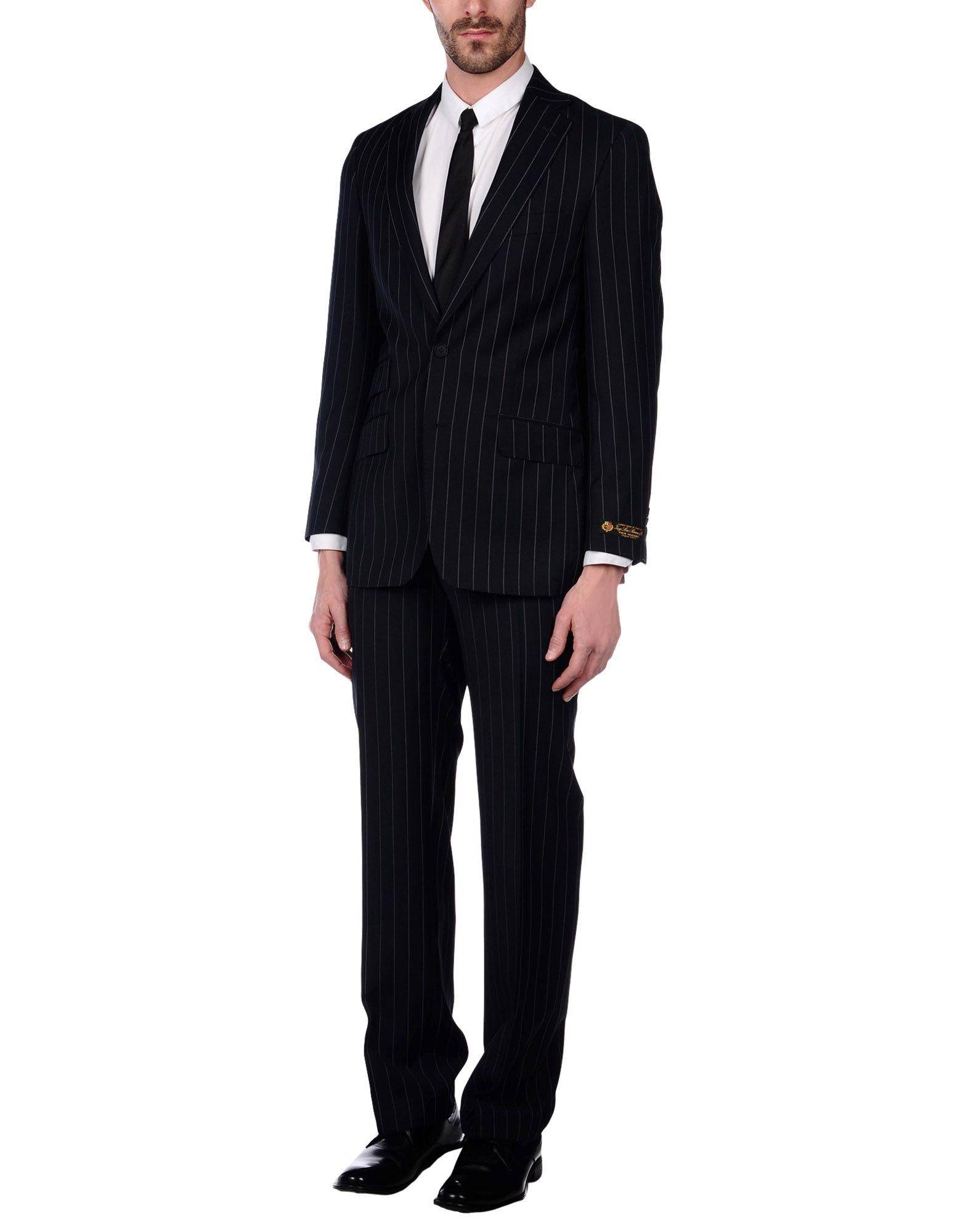 《送料無料》HENRY JERMYN メンズ スーツ ダークブルー 36 R ポリエステル 55% / ウール 45%