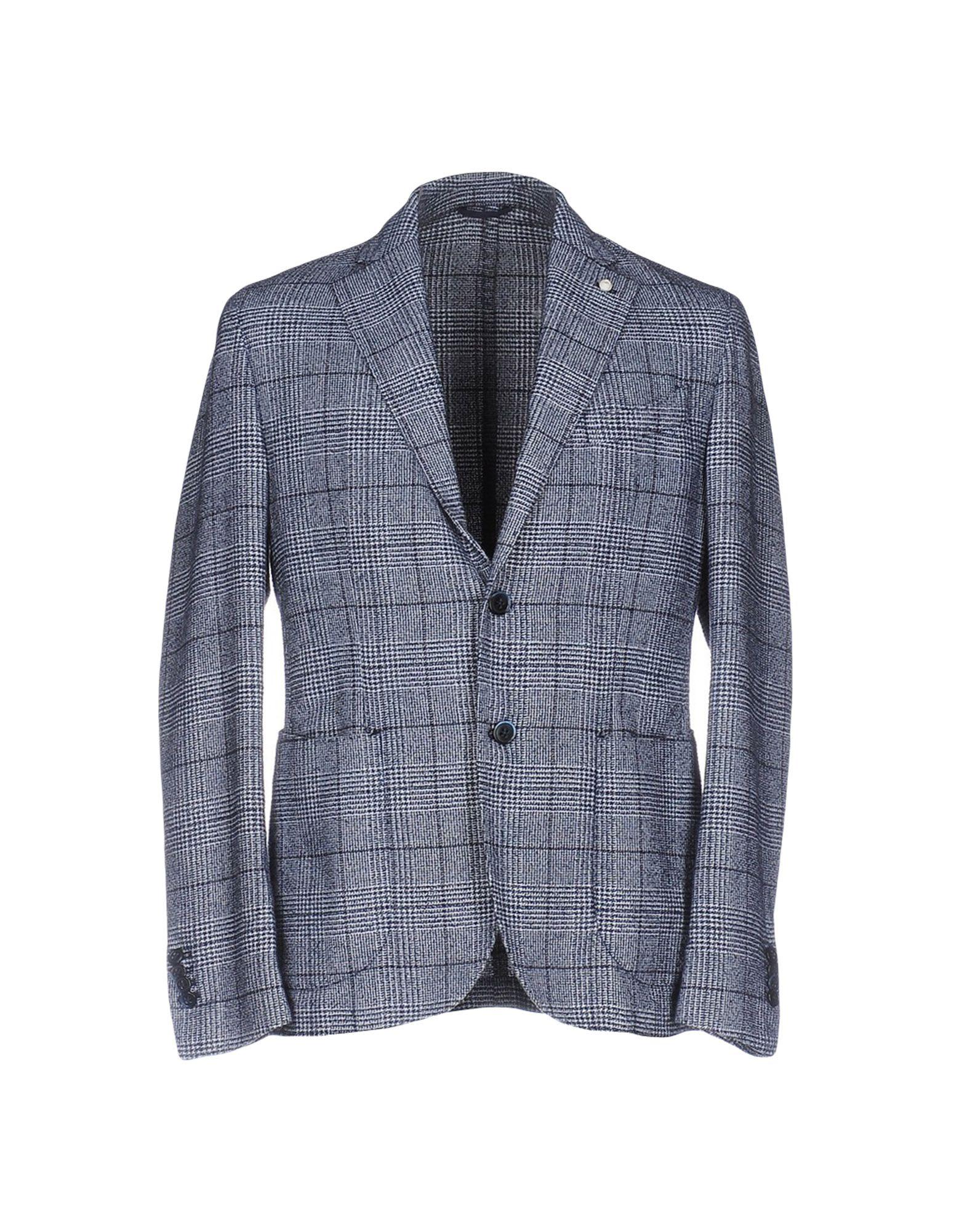 《期間限定セール中》LUIGI BIANCHI ROUGH メンズ テーラードジャケット ダークブルー 52 コットン 46% / ポリエステル 35% / ナイロン 19%