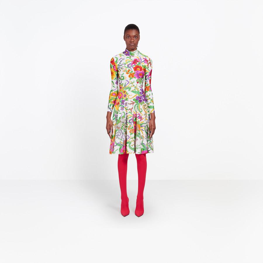 BALENCIAGA Embroidered Ice Skater Dress Dress Woman g