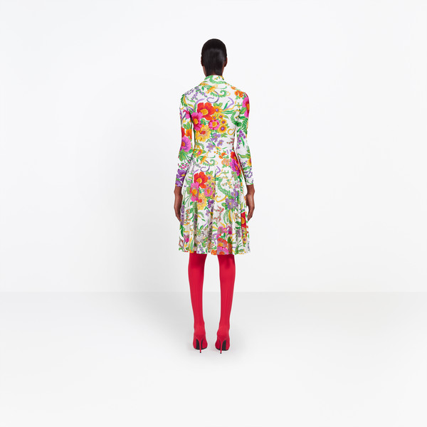 BALENCIAGA Dress Woman Embroidered Ice Skater Dress h