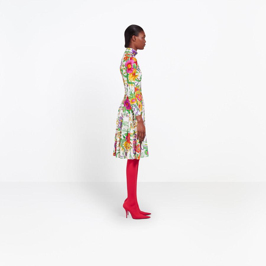 BALENCIAGA Embroidered Ice Skater Dress Dress Woman i