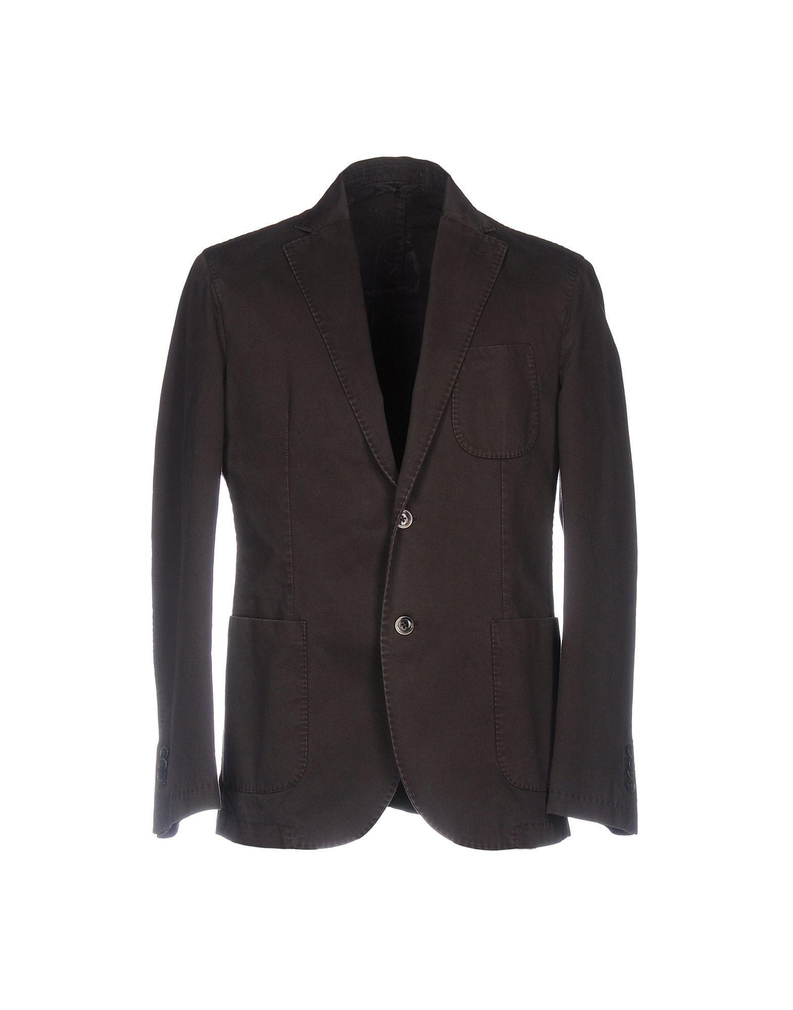 《送料無料》LUIGI BIANCHI ROUGH メンズ テーラードジャケット ブラウン 58 コットン 100%