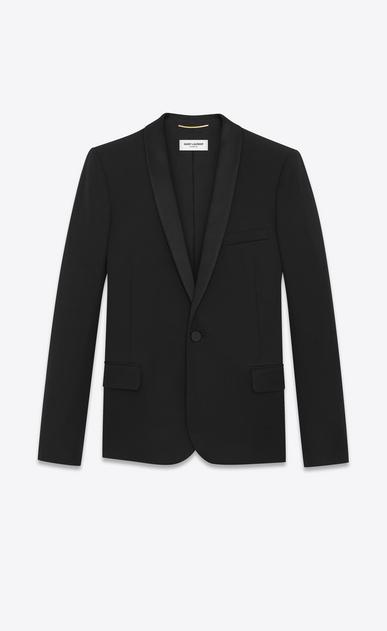 SAINT LAURENT Tuxedo Jacket D Iconic LE SMOKING Single-Breasted Jacket in Black Grain de Poudre v4