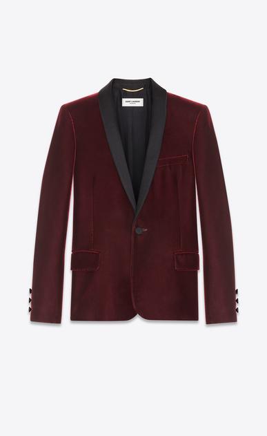 SAINT LAURENT Tuxedo Jacket D Iconic LE SMOKING Single-Breasted Jacket in Burgundy Velvet v4