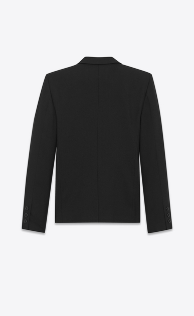 SAINT LAURENT Blazer Jacket Woman Single-Breasted Jacket in Black Gabardine b_V4