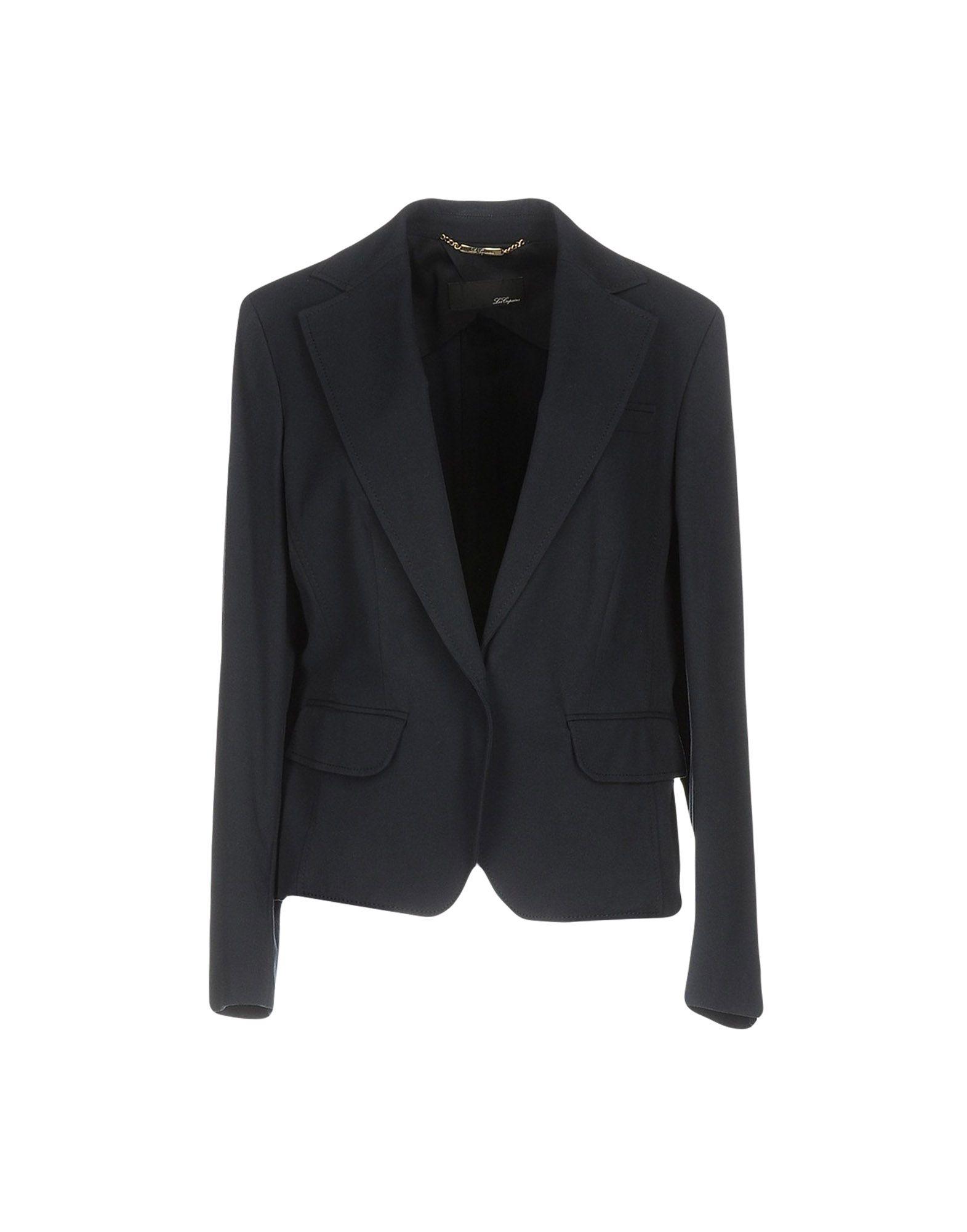 LES COPAINS Damen Jackett Farbe Dunkelblau Größe 7 - broschei