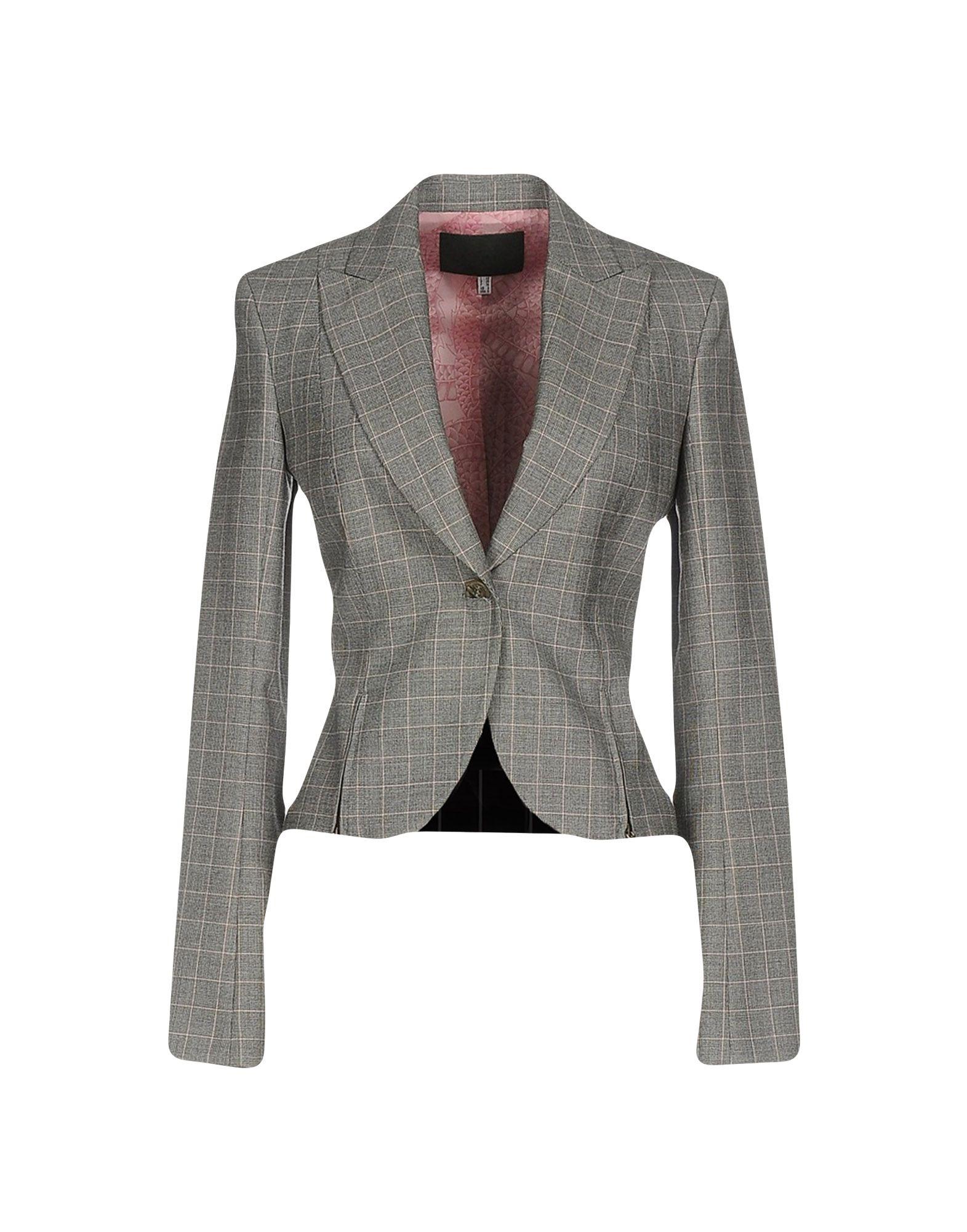 RICHMOND X Damen Jackett Farbe Grau Größe 4 - broschei
