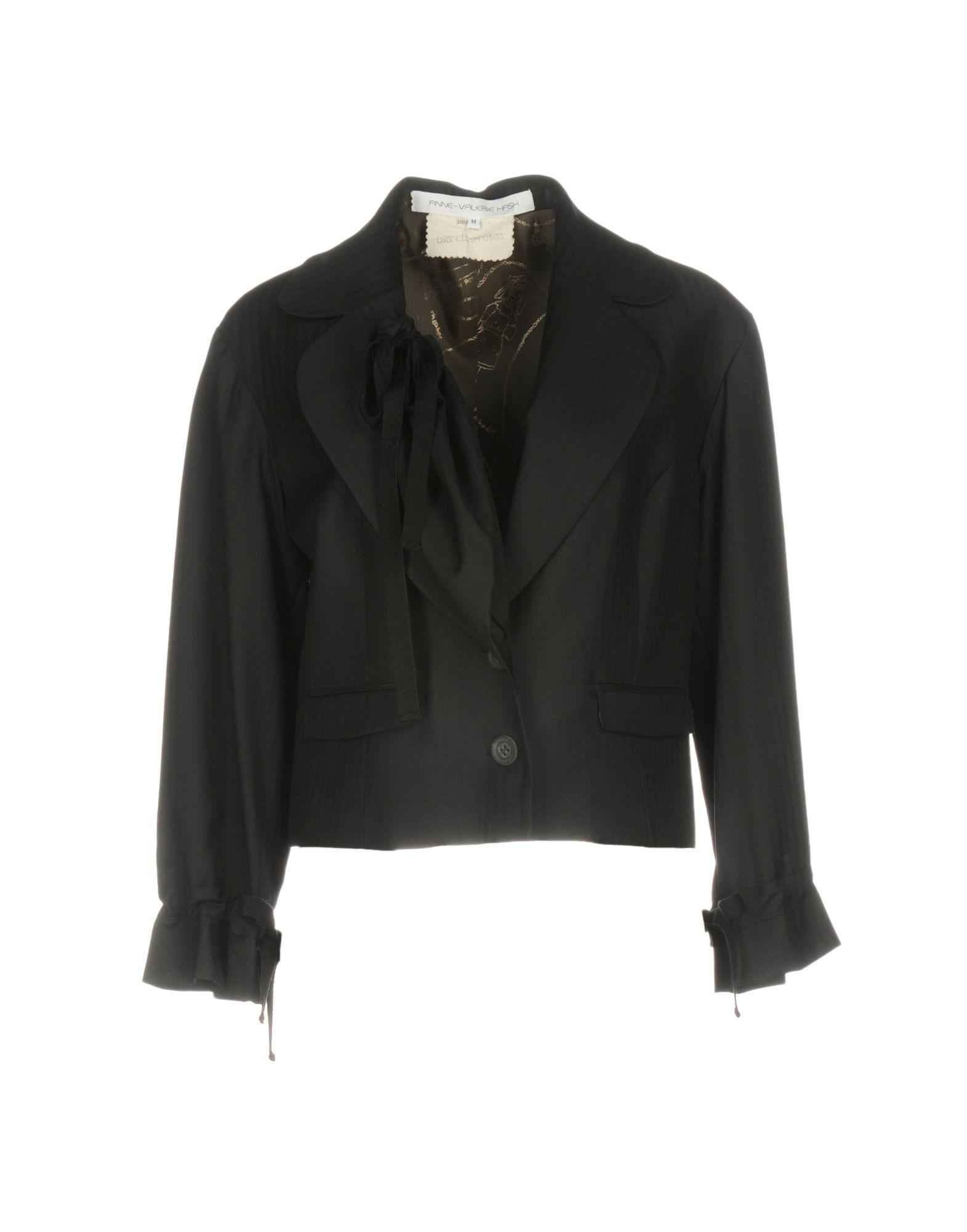 《送料無料》ANNE VALERIE HASH レディース テーラードジャケット ブラック M ウール 100%