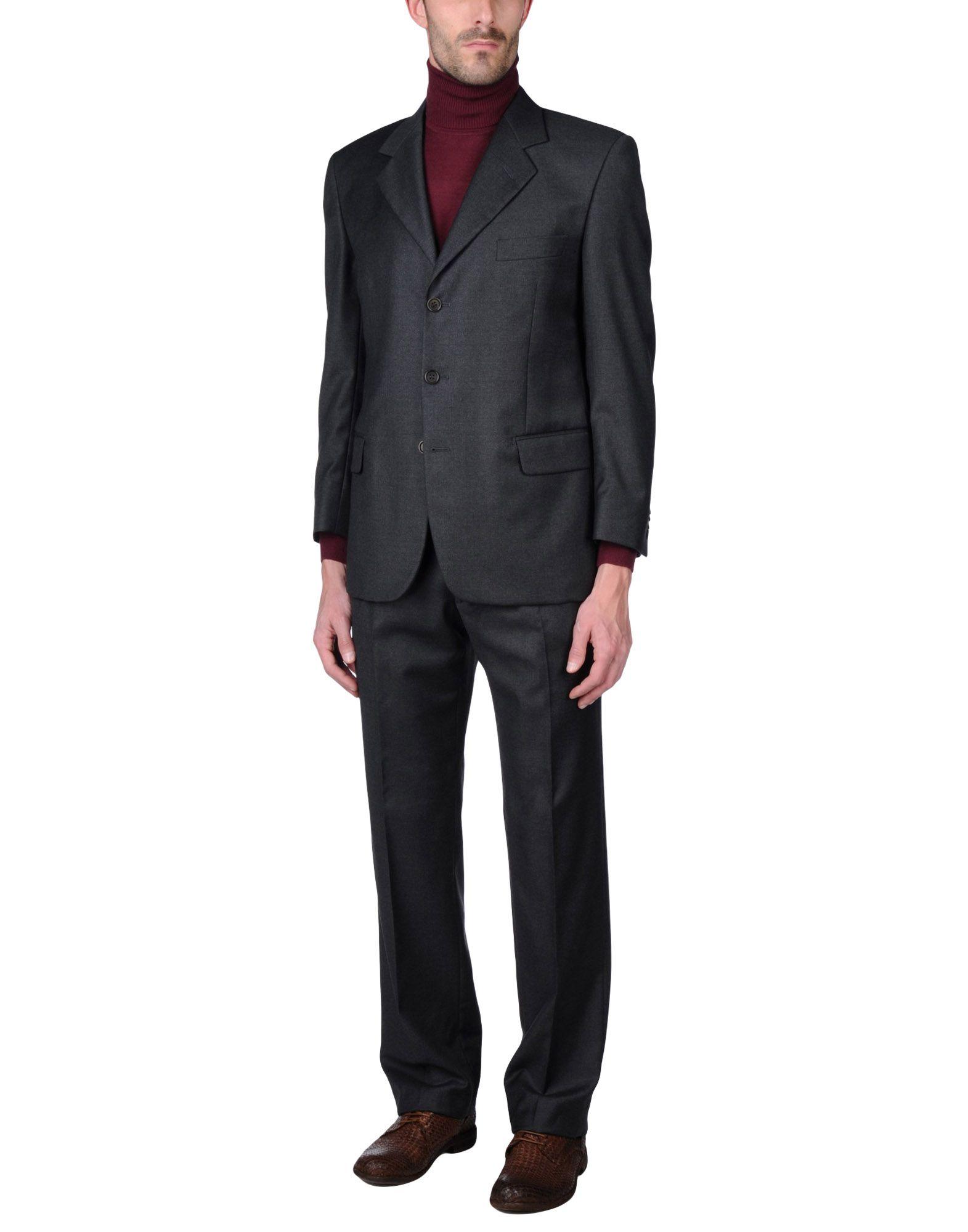 メンズ RENATO BARBANO スーツ スチールグレー
