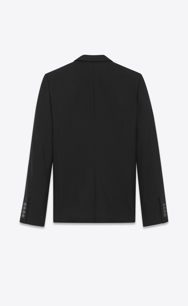 SAINT LAURENT Blazer Jacket Man Classic Single-Breasted Jacket in Black Gabardine b_V4
